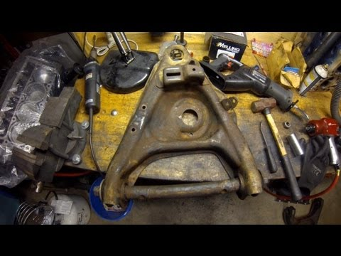 How To Control Arm Bushing Removal at Home (without a torch) 1984 Chevrolet Truck C10 DIY