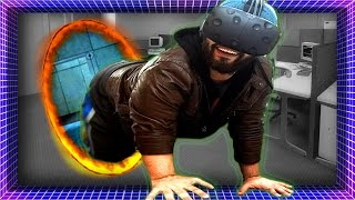 getlinkyoutube.com-Literally CRAWLING In Virtual Reality! | Funny Moments (HTC Vive Gameplay)