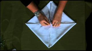 getlinkyoutube.com-Rose Fold - Table Napkin Fold