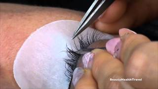 getlinkyoutube.com-Individual Eyelash Extensions application