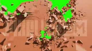 getlinkyoutube.com-Green Screen Destruction Exploding Wall HD - Footage PixelBoom