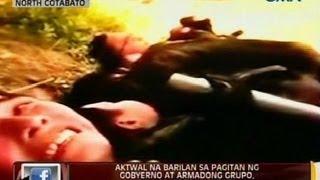 Aktwal na barilan  sa pagitan ng gobyerno at armadong grupo, kuha sa video; lima, sugatan