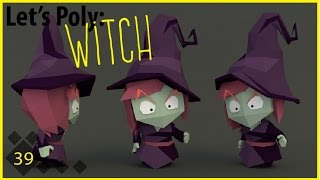 getlinkyoutube.com-Let's Poly: Low Poly Blender: Witch (Time Lapse)