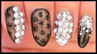 getlinkyoutube.com-Black & Silver Glam nail art