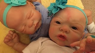 getlinkyoutube.com-Night in the life of reborn baby twins Adelynn and Isla!