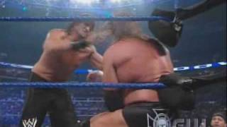 getlinkyoutube.com-Triple H vs. The Great Khali (Lumberjack Match) (2/2)
