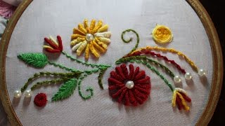 getlinkyoutube.com-Hand Embroidery Designs | Hand embroidery stitches | Stitch and Flower-97