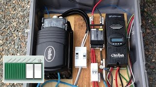getlinkyoutube.com-Shipping Container House - Install a charge controller and inverter to solar panels