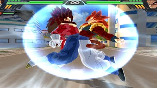 getlinkyoutube.com-Fusion Gogeta SSJ4 and Vegetto SSJ4 | Gogetto SSJ4 vs Broly SSJ4 DBZ Budokai Tenkaichi 3 (MOD)