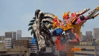 getlinkyoutube.com-Power Rangers Dino Charge - Double Ranger, Double Danger - Megazord Fight