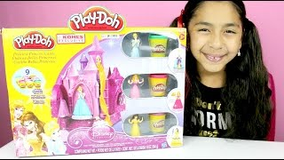 getlinkyoutube.com-Tuesday Play-Doh Disney Princess Castle Belle Cinderella & Aurora|B2cutecupcakes