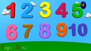 Let's Count 1-10 3D Animation Nursery Rhymes  - Cartoon/Animated Rhymes For Kids