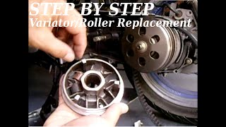 getlinkyoutube.com-(STEP BY STEP) GY6 Variator/Roller Replacement & Tips