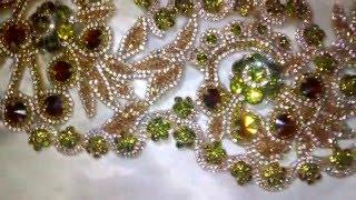 getlinkyoutube.com-موديل  صدر بلوزة وهرانية/colle  d'une robe oranaise -