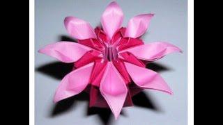 "getlinkyoutube.com-Daisy flower origami. ""Marguerite"" Mio Tsugawa. Ideas for house decor - Easter"