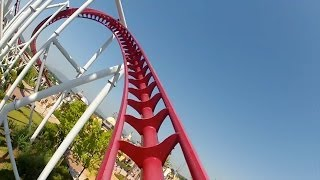 getlinkyoutube.com-Shock Roller Coaster Front Seat POV Rainbow Magicland Rome Italy 1080p HD