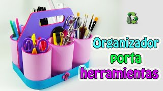 getlinkyoutube.com-197. Manualidades: Organizador porta herramientas (Reciclaje) Ecobrisa