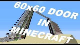 getlinkyoutube.com-60x60 Piston Door. the biggest practical door in Minecraft.