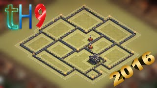 getlinkyoutube.com-Town Hall 9 War Base Anti 3 star + Replays / TH9 Trophy Base Defense 2016 New - Clash of clans