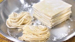 getlinkyoutube.com-Egg Noodles and Egg Wonton Sheets (Ba Mee Kai with Pan Gieaw Kai)
