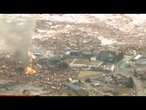 Japan's 8.9 magnitude quake triggers tsunami on 11th March,2011 - video