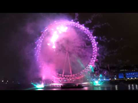 London EYE New Year Fireworks 2012