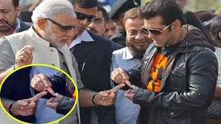 getlinkyoutube.com-जब PM Modi की अंगुली कटी तो Salman Khan ने खुद लगाया Bandage  तस्वीर हो गयी Viral