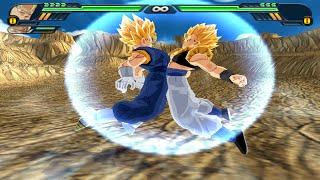 getlinkyoutube.com-Vegetto SSJ and Gogeta SSJ Fusion | Gogetto vs Broly SSJ4  Dragon Ball Z Budokai Tenkaichi 3 (MOD)