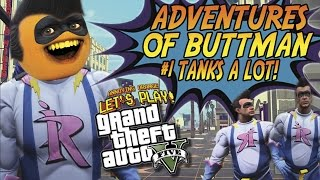 getlinkyoutube.com-Adventures of Buttman #1: TANKS A LOT! (Annoying Orange GTA V)
