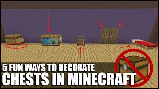 getlinkyoutube.com-5 Fun Ways To Decorate Chests In Minecraft!