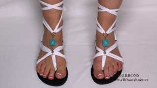 getlinkyoutube.com-Sandalias de mujer Ribbon shoes