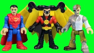 getlinkyoutube.com-Imaginext Metallo Tries To Take Over Gotham City Center But Superman & Red Robin Save The Day
