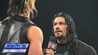 getlinkyoutube.com-Roman Reigns interrupts Seth Rollins: SmackDown, January 9, 2015