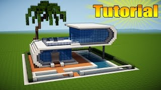 getlinkyoutube.com-Minecraft: Modern Beach House Tutorial - How to Build a House in Minecraft