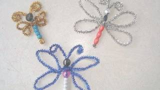 getlinkyoutube.com-CRAFTS FOR KIDS How to make a BEADED DRAGONFLY or BUTTERFLY.
