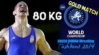 getlinkyoutube.com-Gold Match - Greco Roman Wrestling 80 kg - E. SALEEV (RUS) vs P. BACSI (HUN) - Tashkent 2014