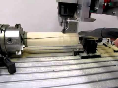 CNC USB Controller - Testing 4th rotary axis