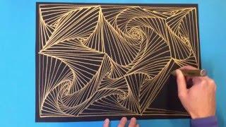 getlinkyoutube.com-Art tutorial - Zentangle Paradox