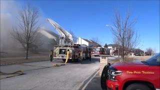 getlinkyoutube.com-Fire Rips Through A Duplex On 2-13-16, 1st Alarm Response