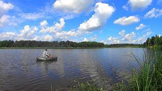 getlinkyoutube.com-Рыбалка с кружками, ловим щуку и окуня на живца