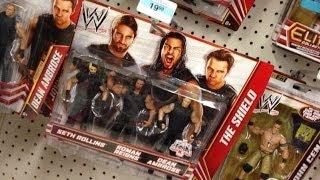 WWE ACTION INSIDER: Shield 3pk at Kmart! wrestling action figure aisle Mattel Elite basic figures