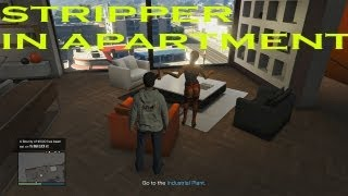 getlinkyoutube.com-GTA 5 Online : How to get a stripper in your apartment!