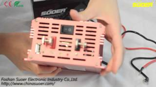 getlinkyoutube.com-Suoer New Power Inverter 12V 2000W with LED Display(SDB-2000A)