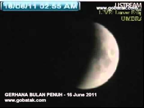 Gerhana Bulan 16 June 2011 FULL (Timelapse)