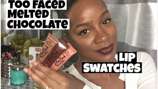 getlinkyoutube.com-Too faced Melted Chocolate Swatches on Dark Skin