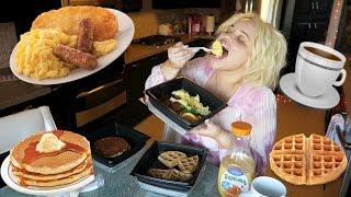 getlinkyoutube.com-HAVE BREAKFAST WITH ME (MUKBANG) EATING SHOW | WATCH ME EAT