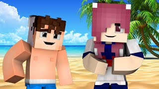 getlinkyoutube.com-Yandere High School - BEACH PARTY! (Minecraft Roleplay) #46