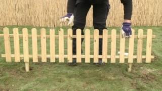 Montaż płotka ogrodowego  w 15 minut - żywiczną masą montażową QUIKSET.