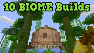 getlinkyoutube.com-Minecraft Building Ideas - 10 BEST Biomes to build in