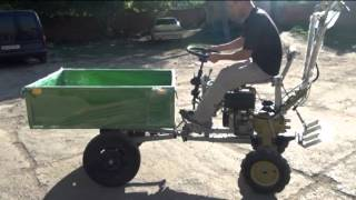 getlinkyoutube.com-Адаптер универсальный к мотоблокам 105,135 моделей. Трактор.